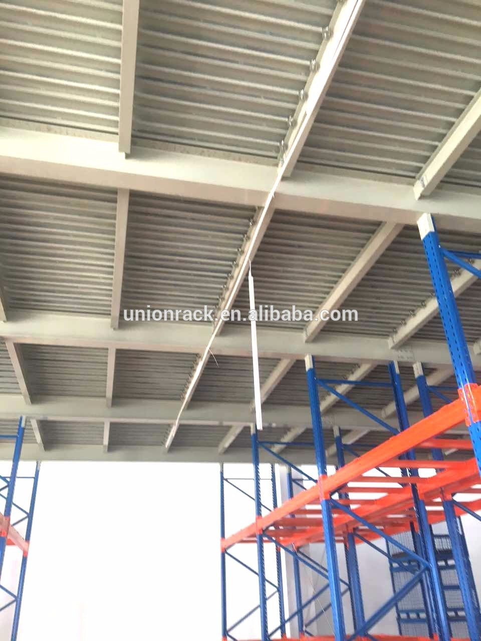 Save space storage steel mezzanine floor racking