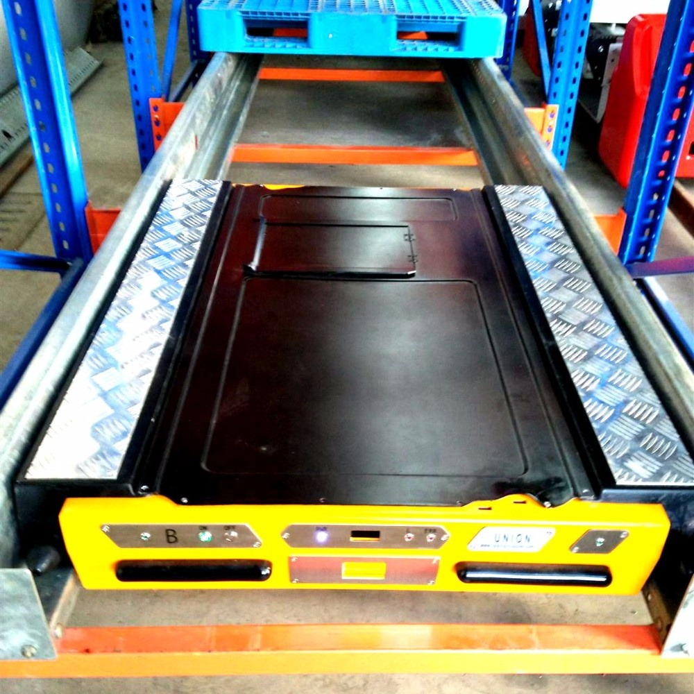 Cold warehouse automatic storage pallet radio shuttle racking system