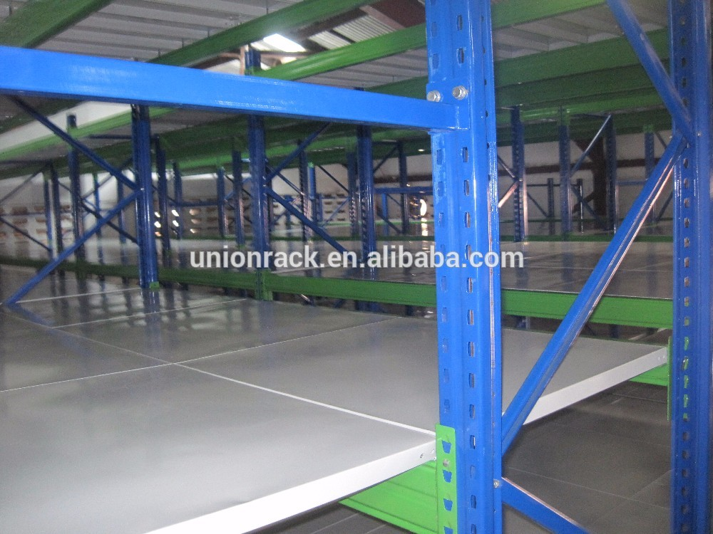 Customized steel multi-level mezzanine rack