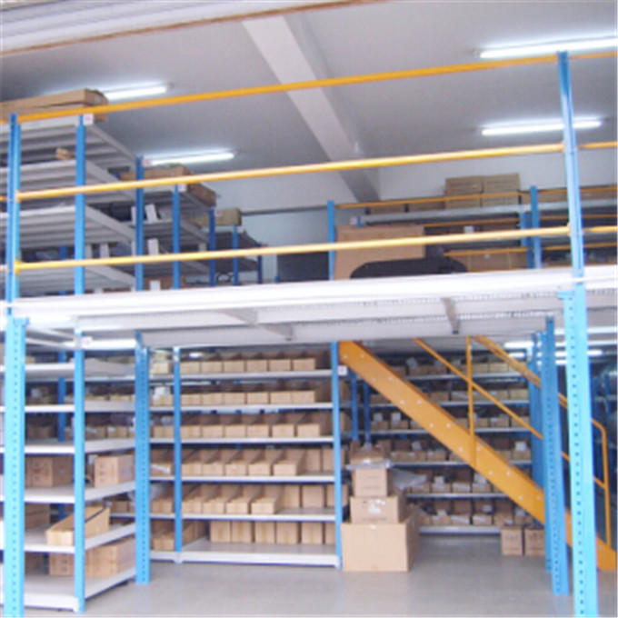 Warehouse Multi-layers Steel Mezzanine Shelving With High Capacity