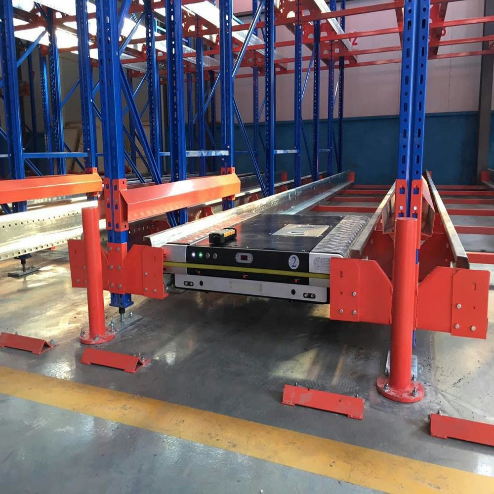 Automated Industrial FILO & FIFO Radio Shuttle Rack System