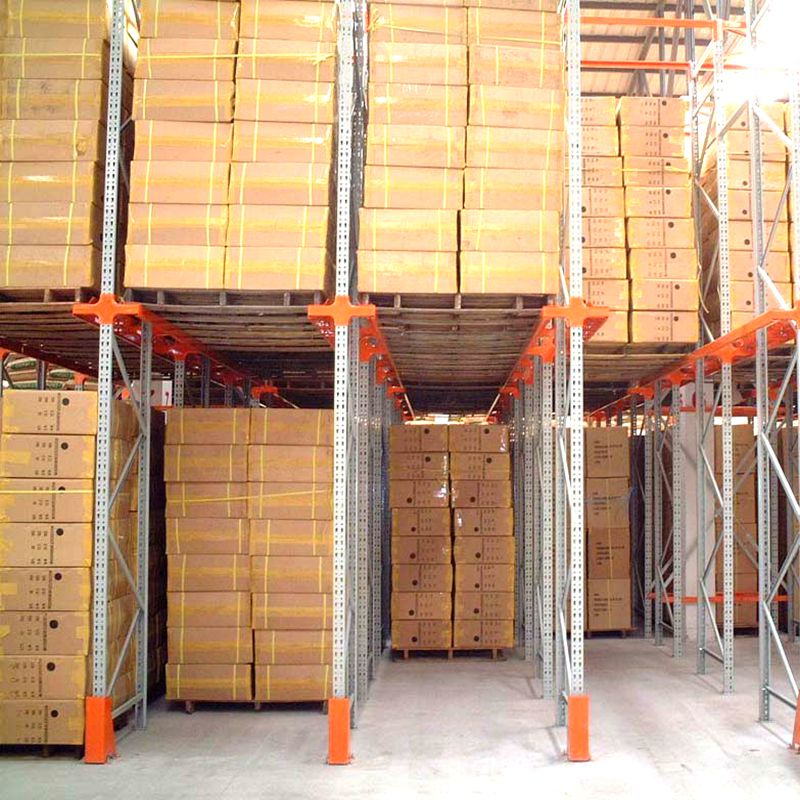 High Density Very Space-Efficient Bulk Storage Drive-In Rack System