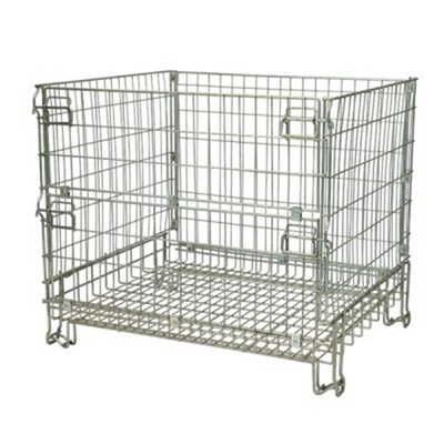 Warehouse Collapsible Wire Mesh Cage For Logistic Equipment