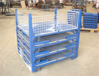 Steel Storage Stackable Wire Mesh Pallet