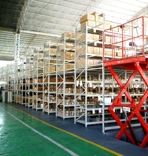 Multi-Level Storage Mezzanine Racking Floors For Large Area Warehouse