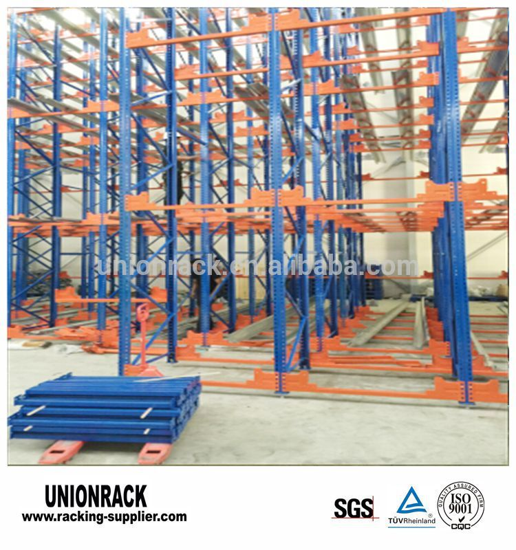 Corrosion Prevention Warehouse Radio Shuttle Selective Pallet Rack For Automatic Storage