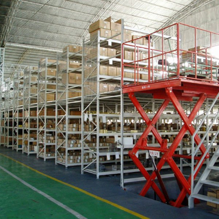 Jiangsu Union ISO Certificate Warehouse Multi Level Steel Metal Decking Mezzanine Rack