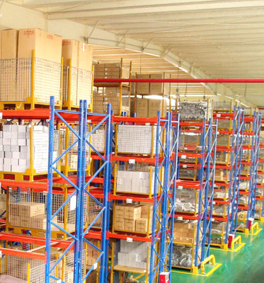 Jiangsu Union Heavy Duty 4.5T per layer Q235 steel pallet racks for warehouse storage