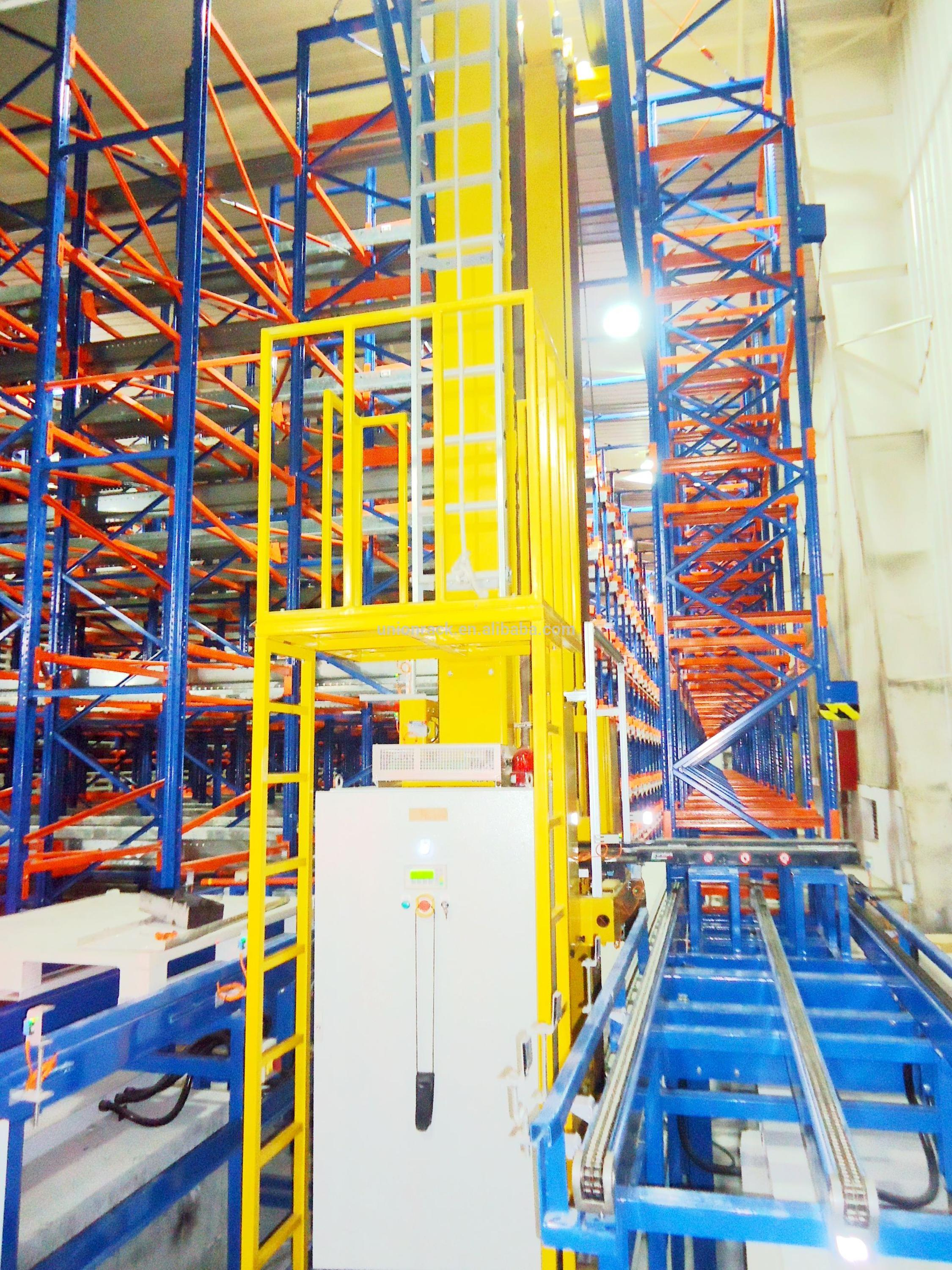 Warehouse ASRS Automatic Storage Racking System with Stacker Crane